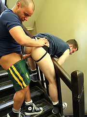 Bound and Rough Fucking - Brent Tyler gets pounded by my mate Marco