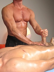 Gay masseuse having his way with a horny guy
