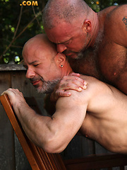 Bronson Gates and Evan Scott fuckng outdoors