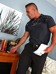 Hairy muscled daddy Adam Rogue