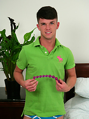 Young Straight Pup Oli Hall gets Hooked on our Vibrating Dildo!