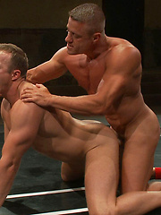 Huge dicked Tyler Saint takes on a young muscle stud. Skill and experience versus youth and endurance. Someone's getting their ass pounded either