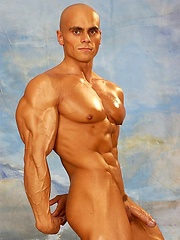 Hot bald muscle man from Czech naked