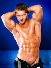 Oiled muscle stud naked