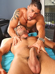 Cody Cummings and Donny Wright massage scene
