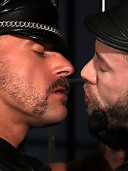 Samuel Colt and Shay Michaels - leather men