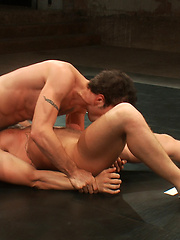 The thrilling conclusion of DJ and Steve Sterling wrestle to the sex in Naked Kombat.