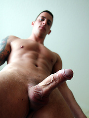 Stroking my fat cock - Straight mate Kevin Lucas