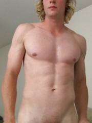 Blond twink shows his six pack - Ridge :peep