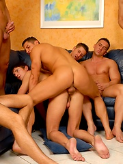 Euro studs in a gay orgy