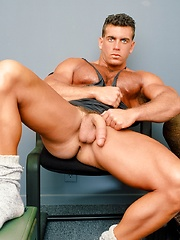 Hot bodybuilder Jake Tanner