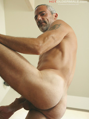 Vincent strokes cock