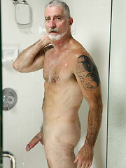 Paul Barbaro in a shower