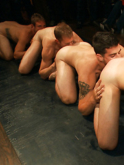 Jake Steel - beaten and thrown in an oily orgy.
