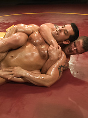 Marcus Titan Ruhl vs Jeremy Stonewall Stevens - Muscled Oil Match!