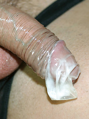 Dirty Marcello takes a request from a fan, and fills up a condom with all his hot sticky cum