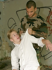 Blond twink gets abused
