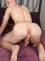 Hot blond wanking off his dick