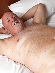 Bald daddy Darell Griffon shows his small cock