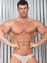 Buzz West shows his muscular body