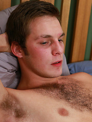 Hairy Young Uncut Straight Fair Ground Worker Rudy Squirts for England!