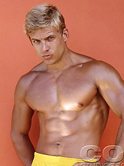 Hot blond man naked