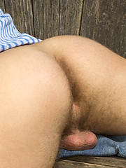 Handsome twink outdoors