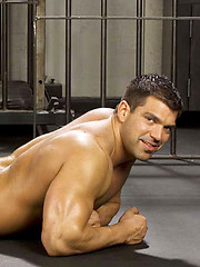 Horny latin muscle man posing naked