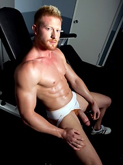 Redhead Max is a mountain of muscle