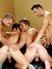 Hot muscle studs Marcus Mojo, Rod Daily, Tyler Hunt and Zac fucking