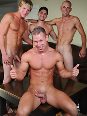 Noah River, Aryx Quinn, Gavin Waters and Taylor Pierce groupsex