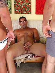 Chasen Hart, Drake Jayden and Wayne Manly - big cock threesome