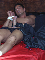 Great bondage shoot of Marcello tied up and tickled relentlessly