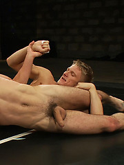 Phillip Aubrey and DJ slam each other around the mat to see who gets fucked hard.