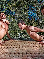 Klim Gromov and Ricky Verez bottom for James Castle and Andrey Vic